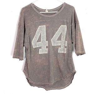 Free People Touch Down Tailgate 44 Tunic Tshirt XS